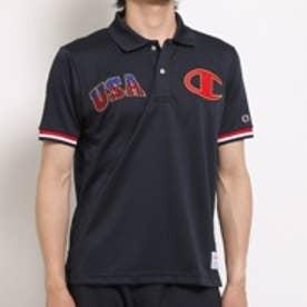 チャンピオン champion 半袖ポロシャツ CH CT1901USAMロコ ネイビー