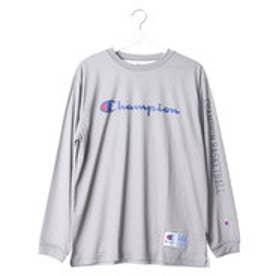 チャンピオン Champion メンズ バスケットボール 長袖Tシャツ C3-JB450 (オックスフォードグレー)