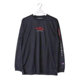 チャンピオン Champion メンズ バスケットボール 長袖Tシャツ C3-JB400 (ネイビー)
