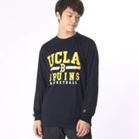 チャンピオン Champion メンズ バスケットボール 長袖Tシャツ C3-JB460 (ネイビー)