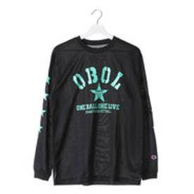 チャンピオン Champion メンズ バスケットボール 長袖Tシャツ C3-JB402 (ブラック×ミント)