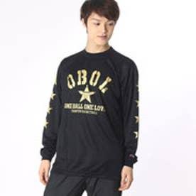 チャンピオン Champion メンズ バスケットボール 長袖Tシャツ C3-JB402 (ブラック×ゴールド)