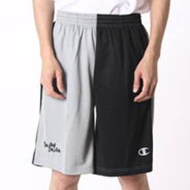 チャンピオン Champion メンズ バスケットボール ハーフパンツ C3-HB504 (ブラック×シルバーグレー)