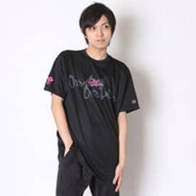 チャンピオン Champion バスケットボールTシャツ プラクティス TEE C3-HB301    (ブラック×ピンク)