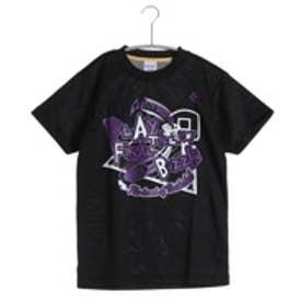 コンバース CONVERSE ジュニアバスケットボールシャツ ジュニアプリントTシャツ CB461301    (ブラック×パープル)