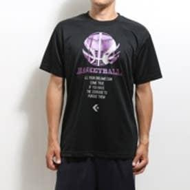 コンバース CONVERSE バスケットボールTシャツ プリント Tシャツ CB252311 ブラック (ブラック)