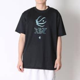 コンバース CONVERSE バスケットボールTシャツ プリントTシャツ CB261311    (ブラック×ミントグリーン)