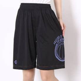 コンバース CONVERSE バスケットボールプラクティスパンツ ウィメンズプラクティスパンツ CB361804    (ブラック×パープル)