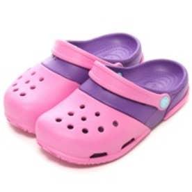 クロックス crocs ジュニアサンダル Electro 2.0 Clog Party Pink/Neon Purple C8 15608-6CP ピンク (ピンクPU)