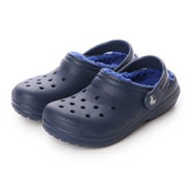 クロックス crocs ジュニア サンダル Classic Lined Clog Kids 203506 (Navy/Cerulean Blue)
