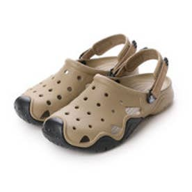クロックス crocs サンダル シフトウォーター クロッグ Swiftwater Clog Khaki/Black M10 202251-284-M10