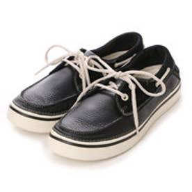 クロックス crocs カジュアルシューズ Hover Leather Boat Shoe 12595 2088 (ブラック)