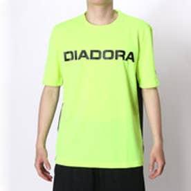 ディアドラ Diadora テニスTシャツ マルチプラクティスシャツ AP6336 イエロー (イエロー×ブラック)