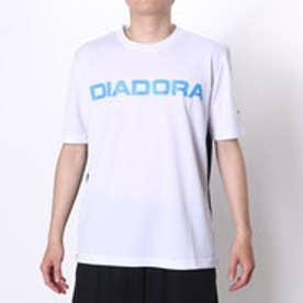 ディアドラ Diadora テニスTシャツ マルチプラクティスシャツ AP6336 ホワイト (ホワイト×ブルーFL)