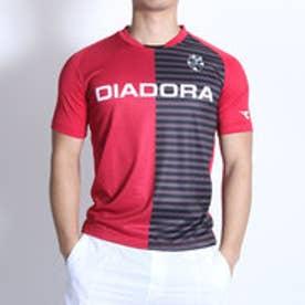 ディアドラ Diadora テニスTシャツ プラクティスシャツ TP6534 レッド (レッド)