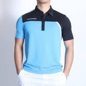 ディアドラ Diadora テニスポロシャツ ゲームシャツ TG6334 ブルー (ブルーFL×ホワイト)