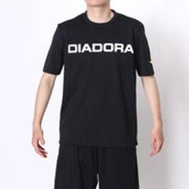 ディアドラ Diadora テニスTシャツ マルチプラクティスシャツ AP6336 ブラック (ブラック×ホワイト)