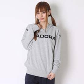 ディアドラ Diadora テニス用スウェット マルチスウェットフーディージャケット AP6105 グレー (シルバー)