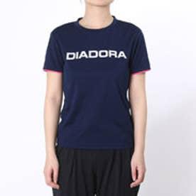 ディアドラ Diadora テニスウェア W マルチプラクティスシャツ AP6337 ネイビー (ネイビー×ホワイト)