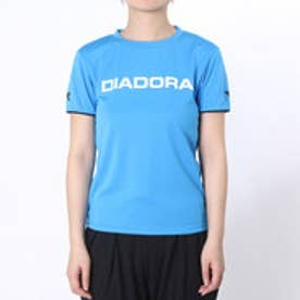 ディアドラ Diadora テニスウェア W マルチプラクティスシャツ AP6337 ブルー (ブルーFL×ホワイト)