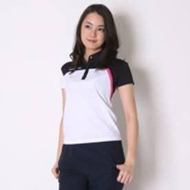 ディアドラ Diadora テニス用ポロシャツ W ゲームシャツ TL6344 ホワイト (ホワイト×ピンクFL)
