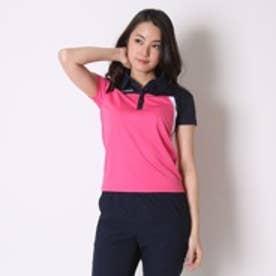 ディアドラ Diadora テニス用ポロシャツ W ゲームシャツ TL6344 ピンク (ピンクFL×ホワイト)