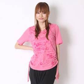 ダンスキン DANSKIN レディース フィットネス 半袖Tシャツ 5分袖ルーズTシャツ DB76152