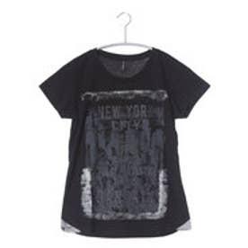 ダンスキン DANSKIN レディース フィットネス 半袖Tシャツ フロントプリントTシャツ DB76150