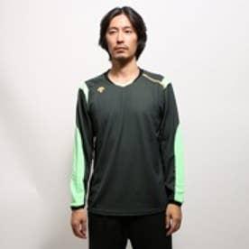 デサント DESCENTE バレーボール長袖プラクティスシャツ DVB-5550 ブラック (ブラックGR)
