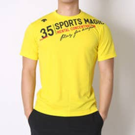 デサント DESCENTE バレーボールTシャツ ハンソデプラクテイスシヤツ DVB-5627B  (イエロー×ブラック)