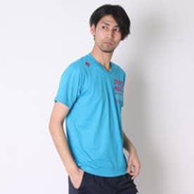 デサント DESCENTE バレーボールTシャツ ハンソデプラクテイスシヤツ DVB-5627A  (ブルー×マゼンダ)