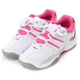 エレッセ ellesse テニスシューズ(オールコート用) V-TN350 544 (ホワイト×ピンク)