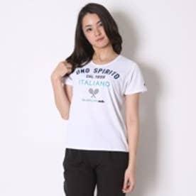 エレッセ ellesse テニスウェア Tシャツ EW16121 ホワイト (ホワイト)