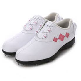 フットジョイ FootJoy ゴルフシューズ 16 Eコンフォートボア WT/PI 98531W225 793 (ホワイト×ピンクアーガイル)