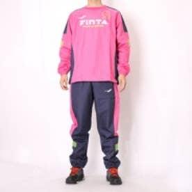 フィンタ FINTA フットサルピステ上下 ロングプラクティスシャツ FTA7017 ピンク×ネイビー (ピンク×ネイビー)