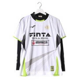 フィンタ FINTA ユニセックス サッカー/フットサル 長袖シャツ プラクティスシャツ(ハイネックインナーシャツセット) FTA7024 (ホワイト)
