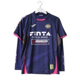 フィンタ FINTA ユニセックス サッカー/フットサル 長袖シャツ プラクティスシャツ(ハイネックインナーシャツセット) FTA7024 (ネイビー)