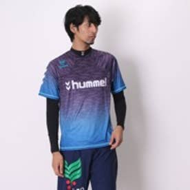 ヒュンメル hummel サッカープラクティスシャツ+長袖インナーセット HPFC-プラシャツインナーセット HAP7092 マジェスティ (パープルBL)