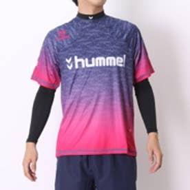 ヒュンメル hummel サッカープラクティスシャツ+長袖インナーセット HPFC-プラシャツインナーセット HAP7092 ネイビー×エスピンク (ネイビーP)
