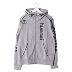 ヒュンメル hummel ユニセックス ハンドボール 長袖プラクティスシャツ スエットフードジャケット HAP8165 (グレー)