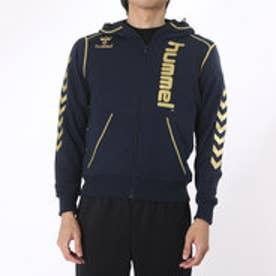 ヒュンメル hummel ユニセックス ハンドボール 長袖プラクティスシャツ スエットフードジャケット HAP8165 (ネイビー)