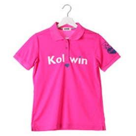 コルウィン Kolwin ゴルフシャツ  KO-1H2086P  (ローズ)