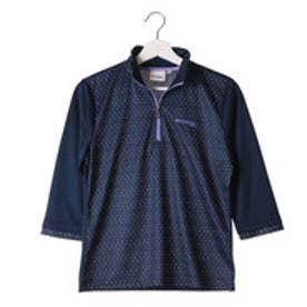 ケイパ kaepa レディース 長袖Tシャツ ケイパドットプリント7ブソデハーフジップTシャツ KPL13104 (ネイビー)