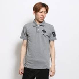 キスマーク kissmark ポロシャツ KM-9F095Bトリモク グレー