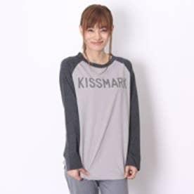 キスマーク kissmark Tシャツ グレー (ミデアムグレーBK)
