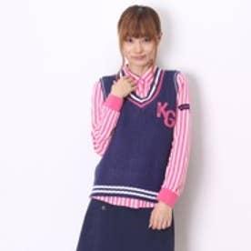 キスマーク kissmark ゴルフシャツ KM-1L2045RYP ネイビー (ネイビー)