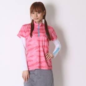 キスマーク kissmark ゴルフシャツ  KM-1L406RYZ レッド (ローズ)