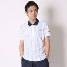 ルコックスポルティフ le coq sportif テニスポロシャツ ハンソデポロシヤツ QT-710161 ホワイト (ホワイト)