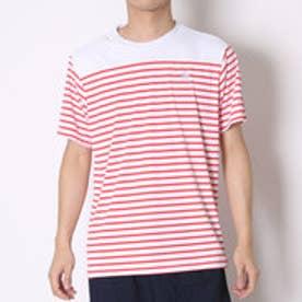 ルコックスポルティフ le coq sportif テニスTシャツ ハンソデシヤツ QT-010361 レッド (スカーレット)