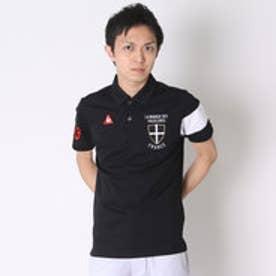 ルコックスポルティフ le coq sportif ゴルフシャツ 半袖シヤツ(ニツト) QG2956 (ブラック)